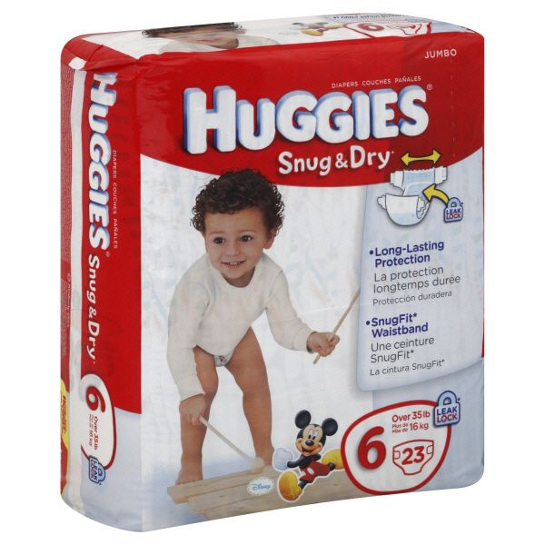 Snug & Dry Diapers, Size 6 (Over 35 lb),