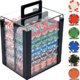 Trademark Poker 1000 NexGen PRO Classic Poker Chips w/ Acrylic Carrier at mygofer.com