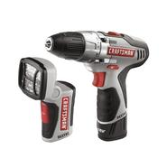 Craftsman 12.0 Volt Lithium-Ion Drill and LED Light Combo Kit at Kmart.com