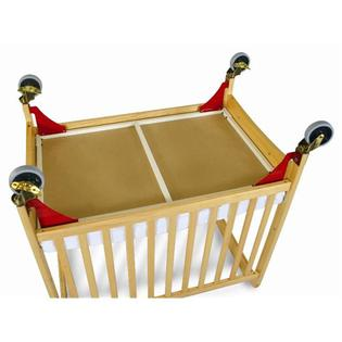 Foundations Evacuation Frame with Antique Brass Casters for Natural SafetyCraft, Serenity and Biltmore Compact Cribs