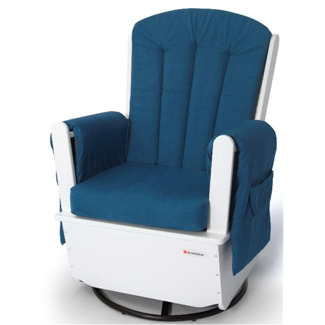 SafeRocker SS Swivel Glider Rocker White & Blue