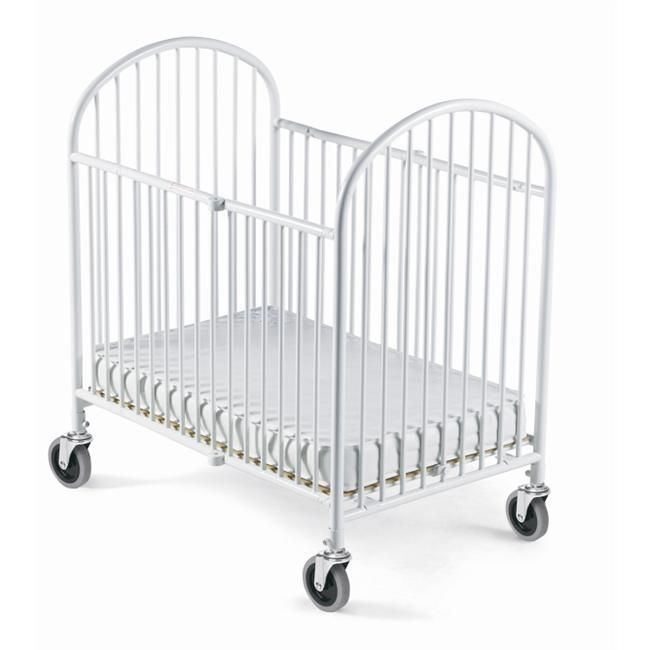 Pinnacle Folding Full Size Steel Crib, White