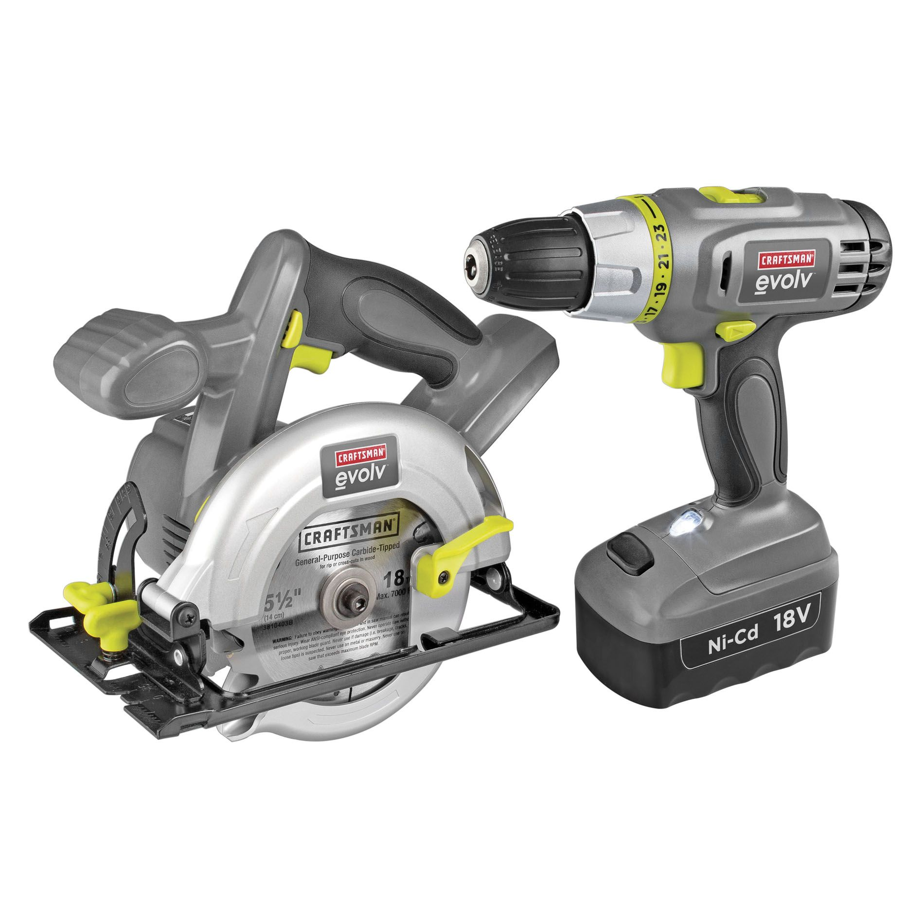 18.0 Volt Cordless Drill and Circular Saw Combo                                                                                  at mygofer.com
