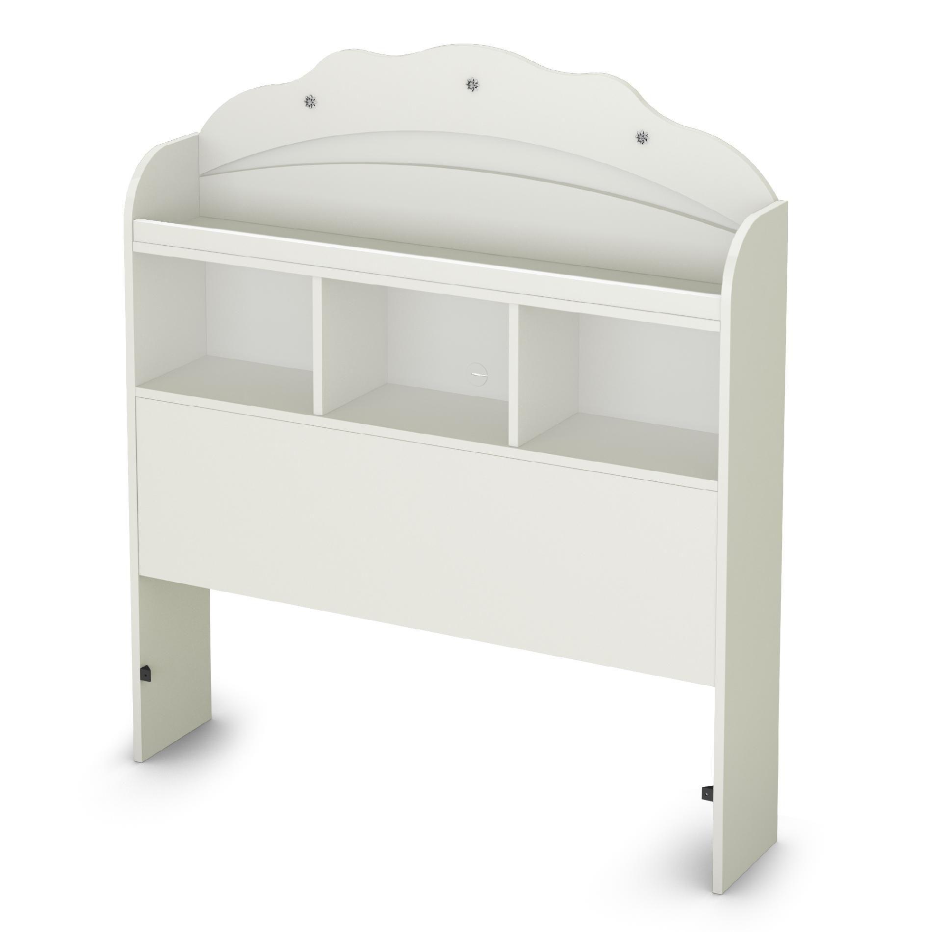 South Shore Tiara Collection Twin 39-inch Bookcase Headboard Pure White