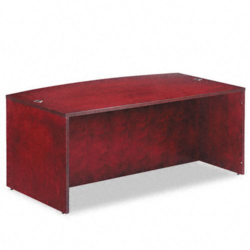 Verona Veneer Series Bow Front Desk Shell