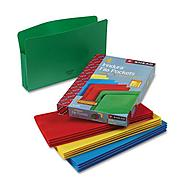 Smead Poly Drop Front File Pockets