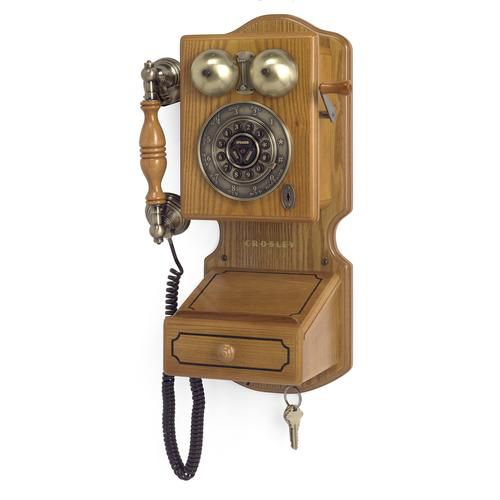 Crosley Corded Phone, Country Wall Phone II