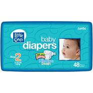 Little Ones Baby Diapers For Boys & Girls, Size 2 (12-18 lb), Fun Look & Great Fit! With Playtime Design, Jumbo, 48 diapers at Kmart.com