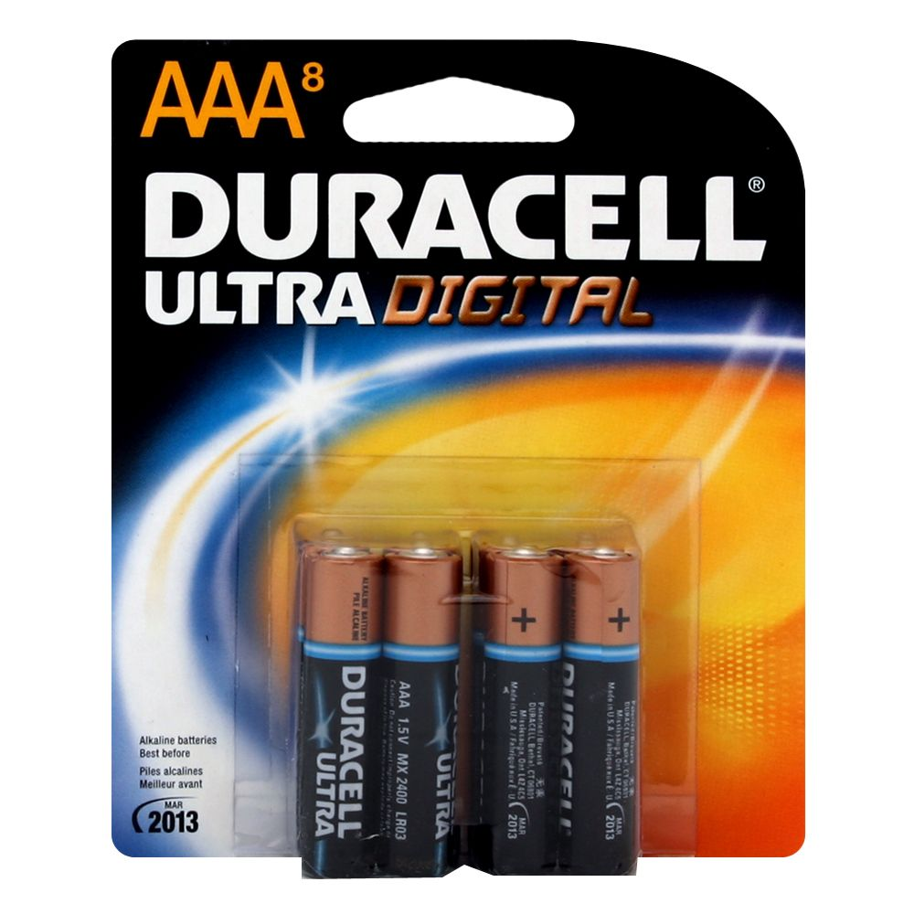Duracell  Ultra Digital AAA Battery 8 Pack