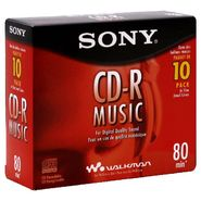 Sony CD-R, Music, 80 min, 10 CD-Rs at Kmart.com