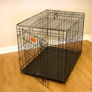 "Majestic Pet Products Single Door Folding Dog Crate Cage, 24""L x 21""W x 18""H, Small, Black at Sears.com"