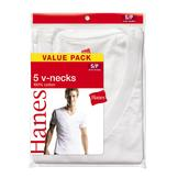 Hanes Men's V-Neck T-shirt -  White 5 pack at mygofer.com