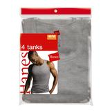 Hanes Men's A-shirt - Black/Grey 4 pack at mygofer.com