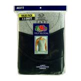 Fruit of the Loom Men's A-shirt - Black/Gray 4 pack at mygofer.com