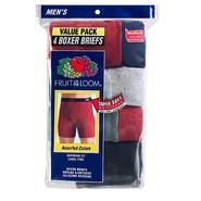 Fruit of the Loom Men's Covered-Waistband Boxer Brief - Assorted Colors 4 pack at Sears.com