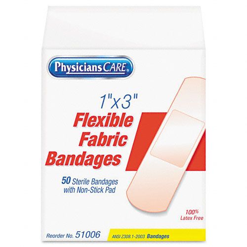 Acme United Fabric Adhesive Bandages,1 x 3, 50 per Box