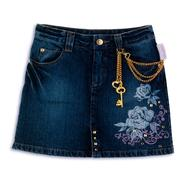 The Cheetah Girls Girl's 7-16 Denim Skirt with Rose & Pocket Embrodery , Chain Belt Loop Accent at Kmart.com