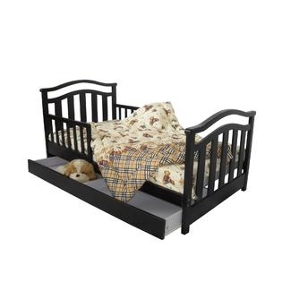 Dream On Me Elora Toddler Bed With Storage Drawer Black Baby