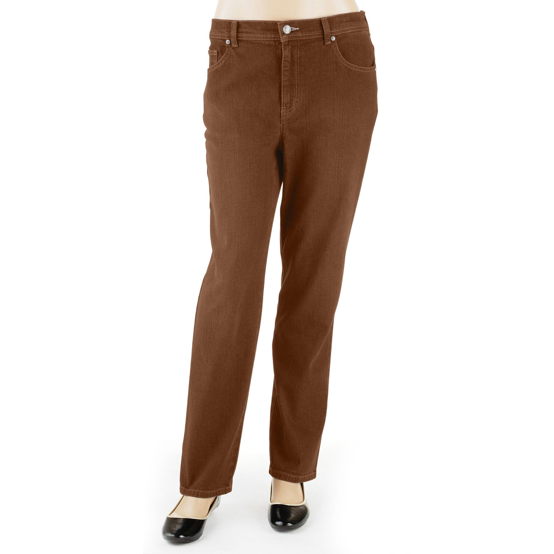 Gloria Vanderbilt Women's Plus Amanda Straight Leg Color Jeans at Sears.com