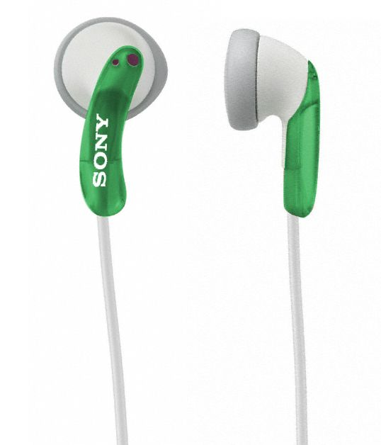 Sony  Ear-Bud Headphones, Green