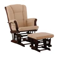 Stork Craft Tuscany Glider & Ottoman - Cherry/Beige at Sears.com