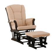 Stork Craft Tuscany Glider & Ottoman - Black/Beige at Kmart.com