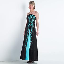 Split Front Embroidered Halter Gown at Kmart.com