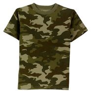 Toughskins Boy's 4-7 Short Sleeve Camo Crew at Kmart.com