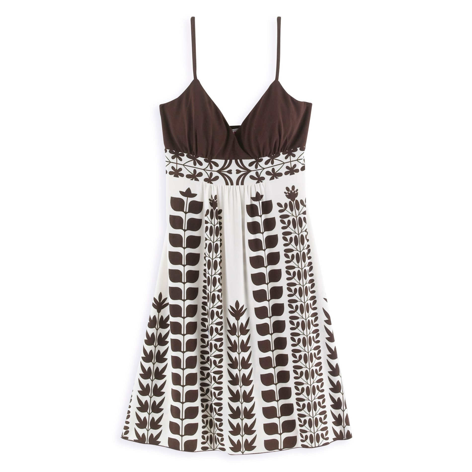 RTW Cat Contrast Bodice Vine Print Dress at Kmart.com