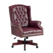 Office Star Deluxe High-Back Adjustable Executive Chair - Mahogany at Kmart.com