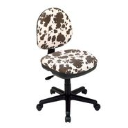 Office Star Chenille Contemporary Adjustable Swivel Chair with Flex Back - Palomino Animal Print at Kmart.com
