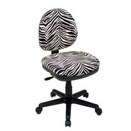 Office Star Chenille Contemporary Adjustable Swivel Chair with Flex Back - Zebra Animal Print at Kmart.com