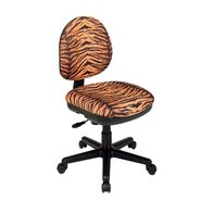 Office Star Chenille Contemporary Adjustable Swivel Chair with Flex Back - Tiger Animal Print at Kmart.com
