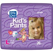 Little Ones Kid's Pants Training Pants For Girls, L, Size 3T-4T (32-40 lb), Dragon Tales, Jumbo, 26 pants at Kmart.com