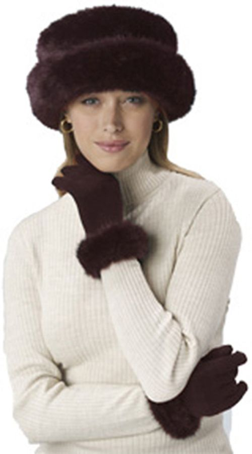 Excelled Faux Fur Bretton Hat - CHOCO at Kmart.com