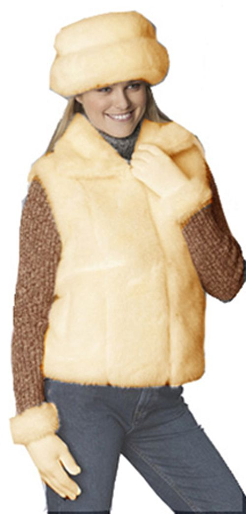 Excelled Faux Fur Bretton Hat - CAMEL at Kmart.com