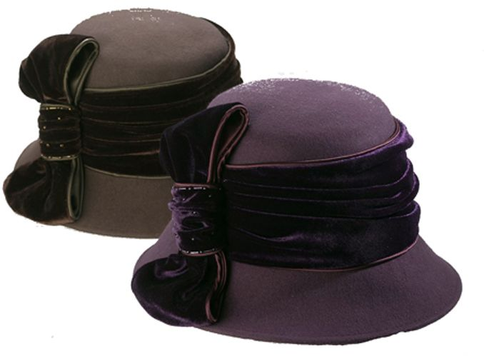 Excelled Sutton Place dress Hat With velvet bow - PLUM at Kmart.com