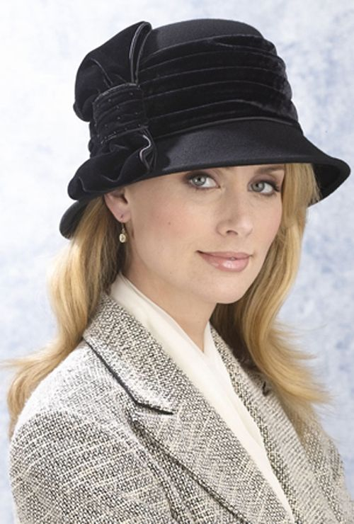 Excelled Sutton Place dress Hat With velvet bow - BLACK at Kmart.com