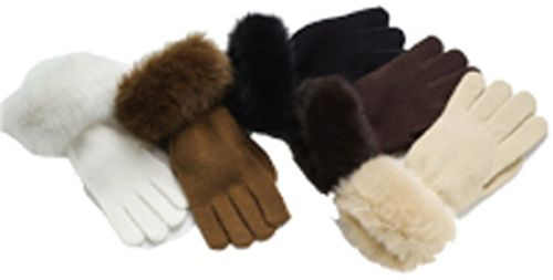 Excelled Knit Glove With Faux Fur - WHITE at Kmart.com