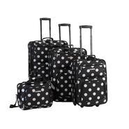 Rockland Fox Luggage 4PC BLACK DOTS LUGGAGE SET at Sears.com