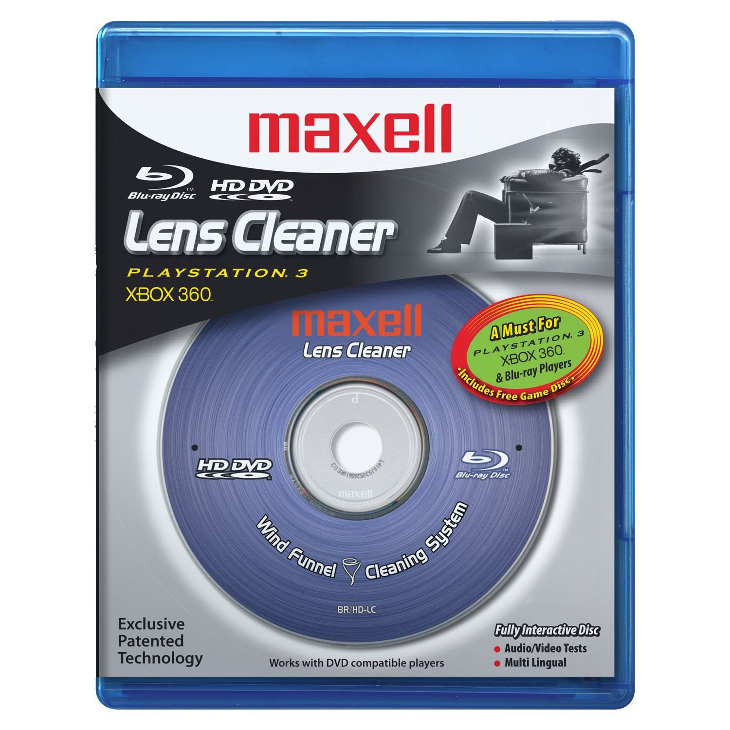 HD DVD & Blue-ray Disc Lens Cleaner