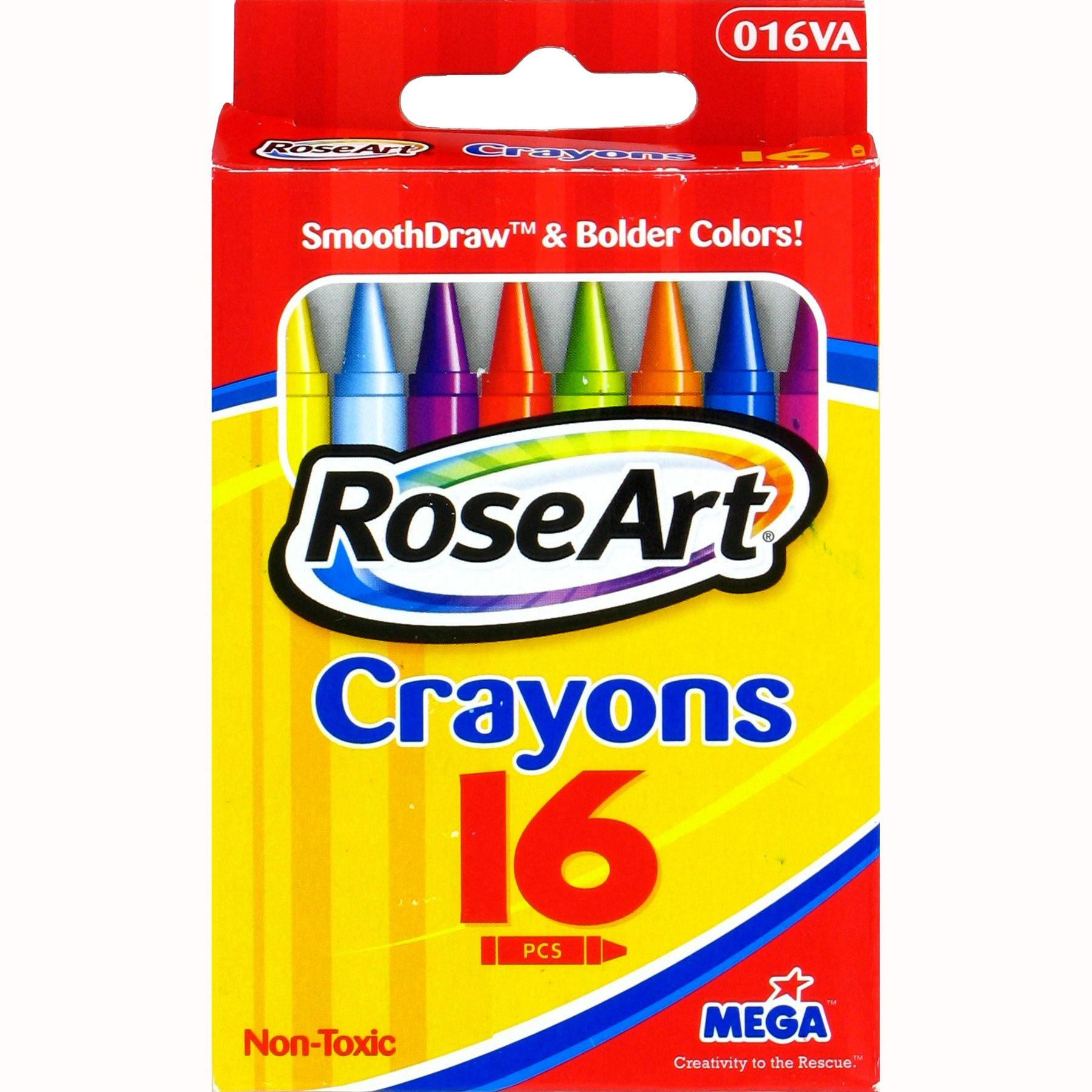 RoseArt 16-Count Crayons CYV72 Packaging May Vary