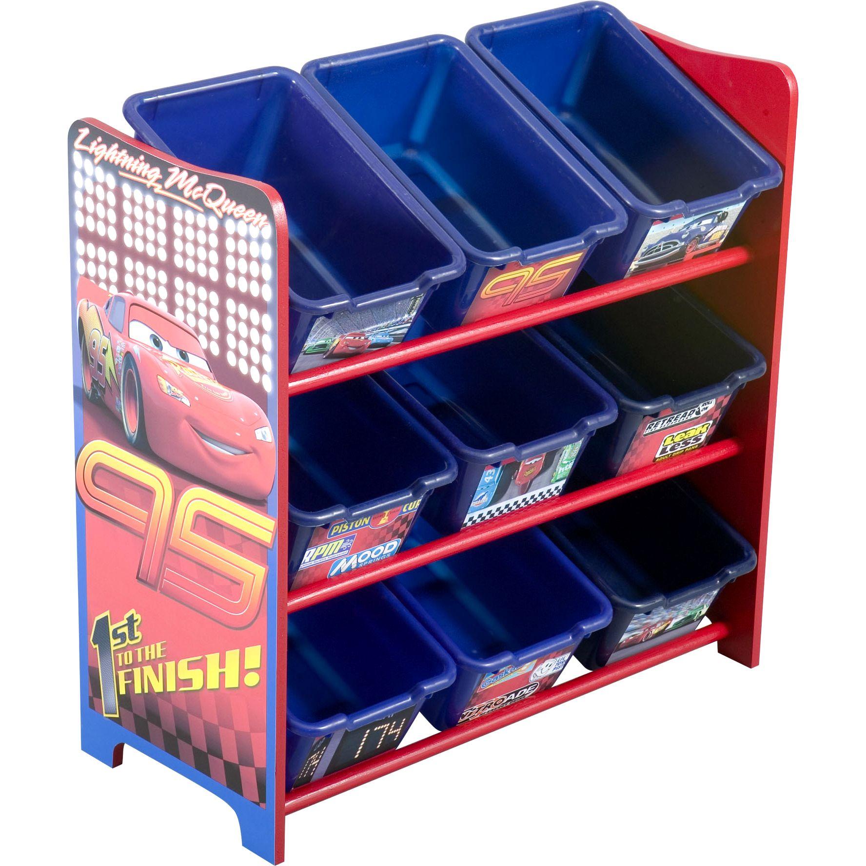 2019 New Wardrobe Kids Organizer Bins Box For Toys: Disney Pixar Cars 9 Bin Toy Organizer