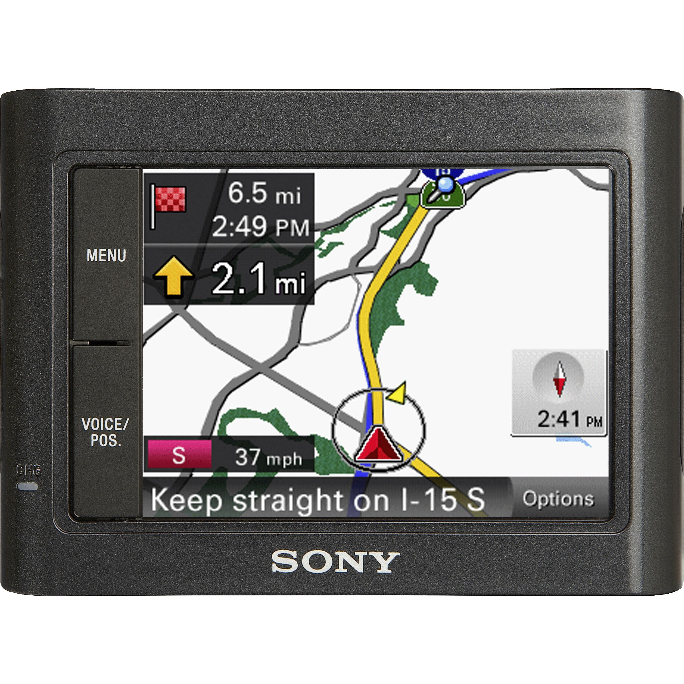 Sony  Nav-U™, 3.5 in. Touchscreen