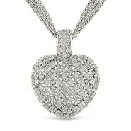 1 ct. t.w.* Diamond Heart Pendant in Sterling Silver at Kmart.com