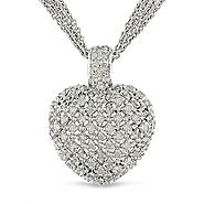 1 ct. t.w.* Diamond Heart Pendant in Sterling Silver at Sears.com