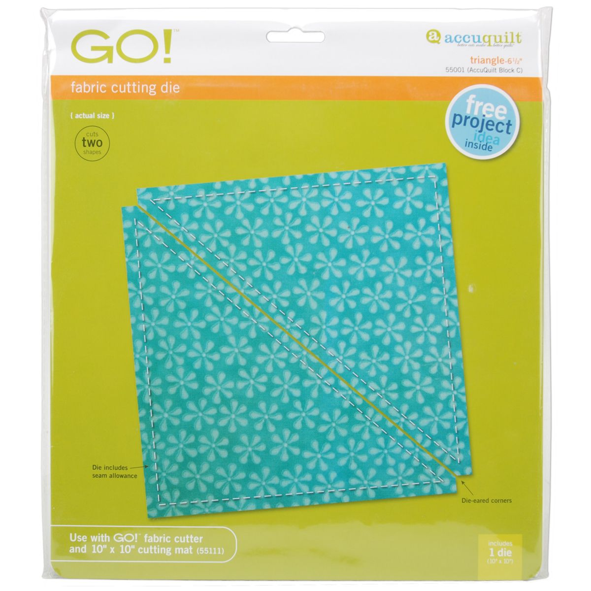 Accuquilt GO! Fabric Cutting Dies-Triangle 6-1/2