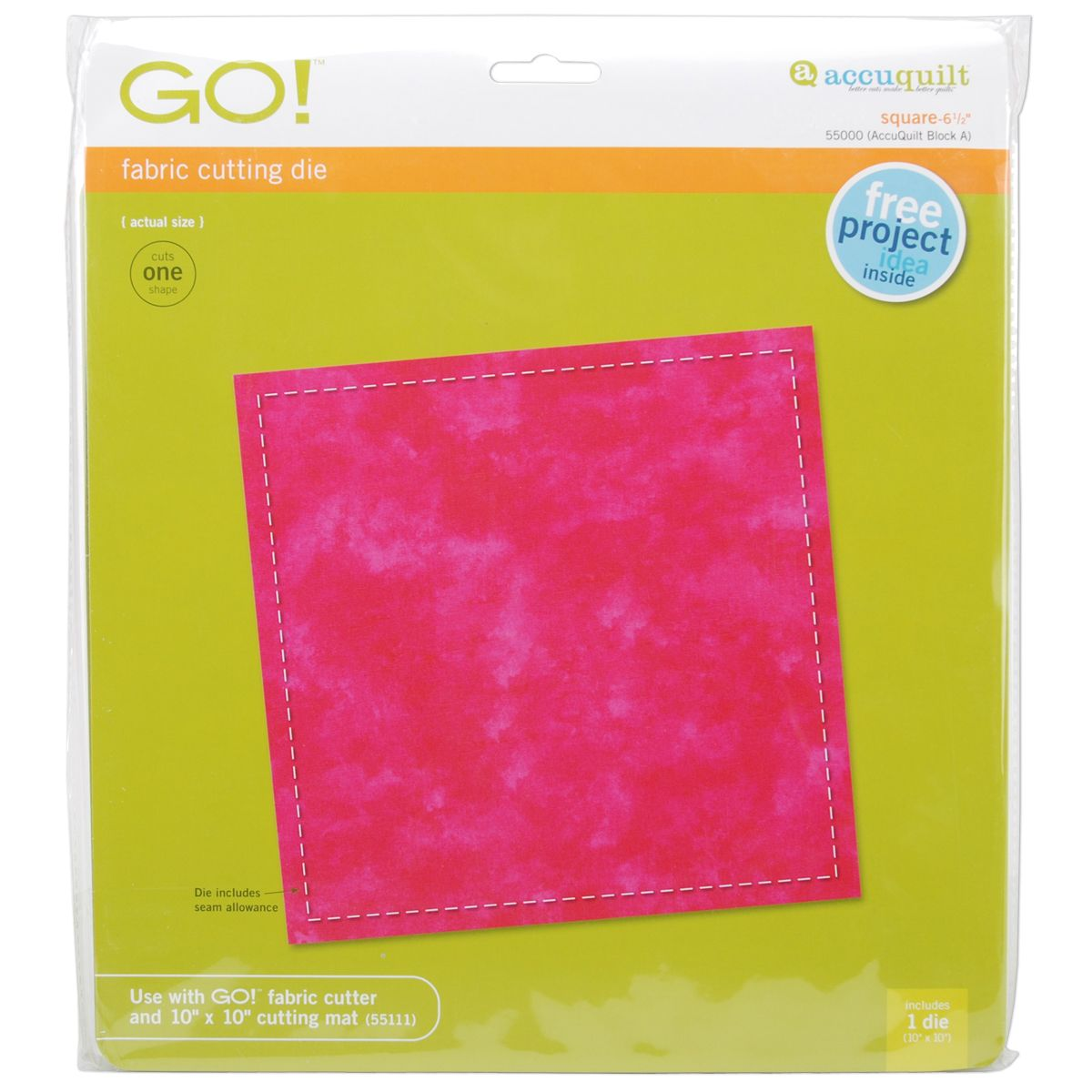 Accuquilt GO! Fabric Cutting Dies-Square 6-1/2