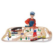 Melissa & Doug Wooden Railway Set at Sears.com
