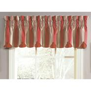 "Waverly Yacht Club Stripe Crimson 80""x15"" Double Scallop  Window Valance at Sears.com"